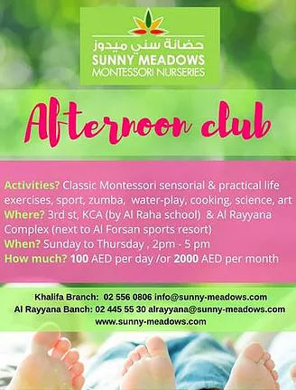Afternoon club Sunny Meadows